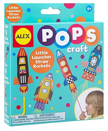 ALEX Toys POPS Craft Little Launcher Straw Rockets