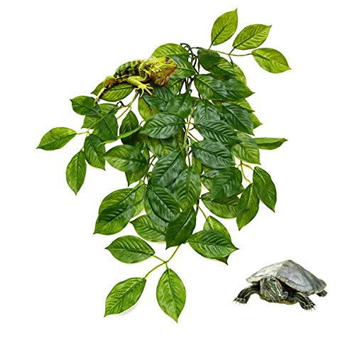 Terrarium Plants,Govine Plastic Terrarium Decor for Reptiles and Amphibians