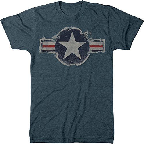 Vintage US Air Force Logo Men's Modern Fit Tri-Blend T-Shirt (Indigo, XX-Large) - Logo Indigo Blue T-shirt
