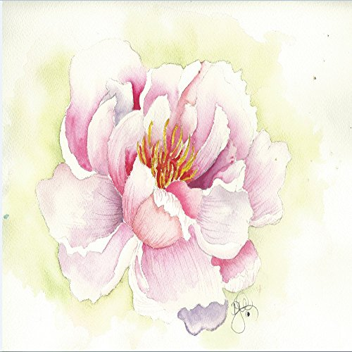 Passionate Bouquet Rose - Blank Note Cards: 6 Blank Artistic Summer Floral All Occasion Watercolor Cards, With Envelopes - Peony