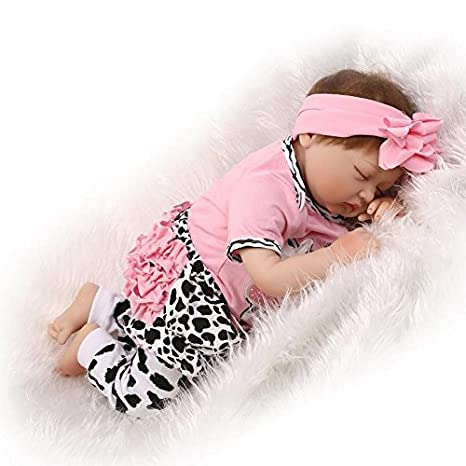 Amazon.com: NPK collection Reborn Girl Doll Soft Silicone Realistic ...