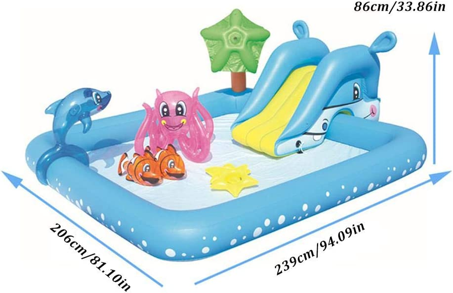 Transparent 40 x 8 Inches Sea Life Splash and Play Paddling Pool