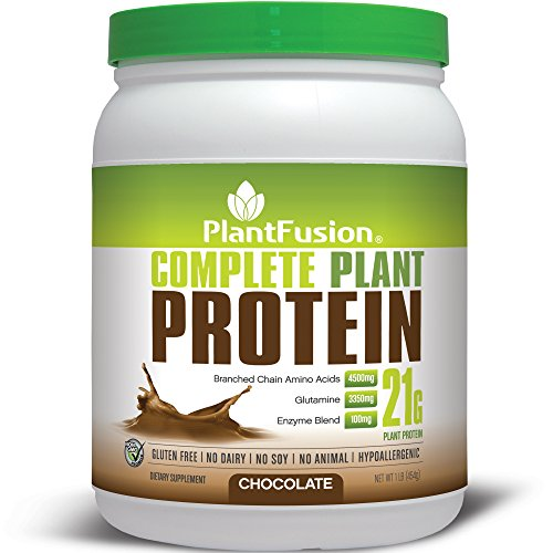 PlantFusion Complete Plant-Based Protein Powder, Chocolate, 1 Lb Tub, 15 Servings, 1 Count (Vegan No Soy Protein Powder)