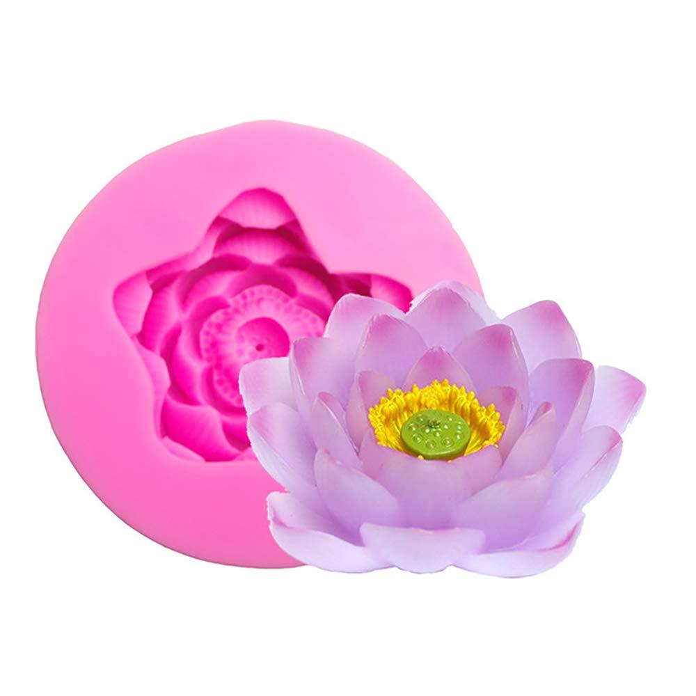 Amazoncom Big Size Lotus Flower Silicone Mold Candy Chocolate