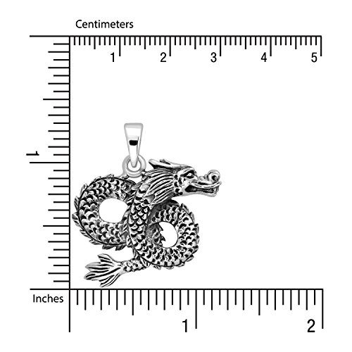 Classic Pendant Sistakno Infinity Flying Silver Dragon Sterling 925 Fqnt4qTH