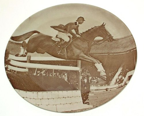 c1962 Copeland Spode Famous Show Jumpers collector plate Sunsalve with David Broome Up CP1445
