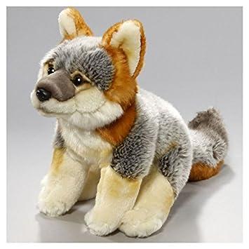 Stuffed Animal Gray Fox Sitting 10 Inches 26cm Plush Toy Soft