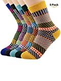 Women's Vintage Style Wool Cashmere Thick Warm Socks(5 Pairs)