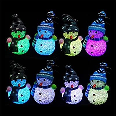 ExGizmo 1pc Lovely Changing Christmas Snowman LED Light Night Lamp Table Decor