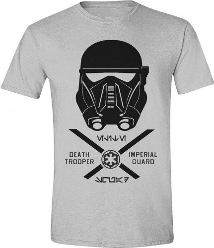 Star Wars TS011ROG-S - STAR WARS Men's Rogue One Imperial Guard T-Shirt, Small, Grey Melange (TS011ROG-S)
