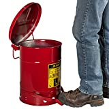 Justrite Just Rite 6 Gallon Oily Waste Can, Red
