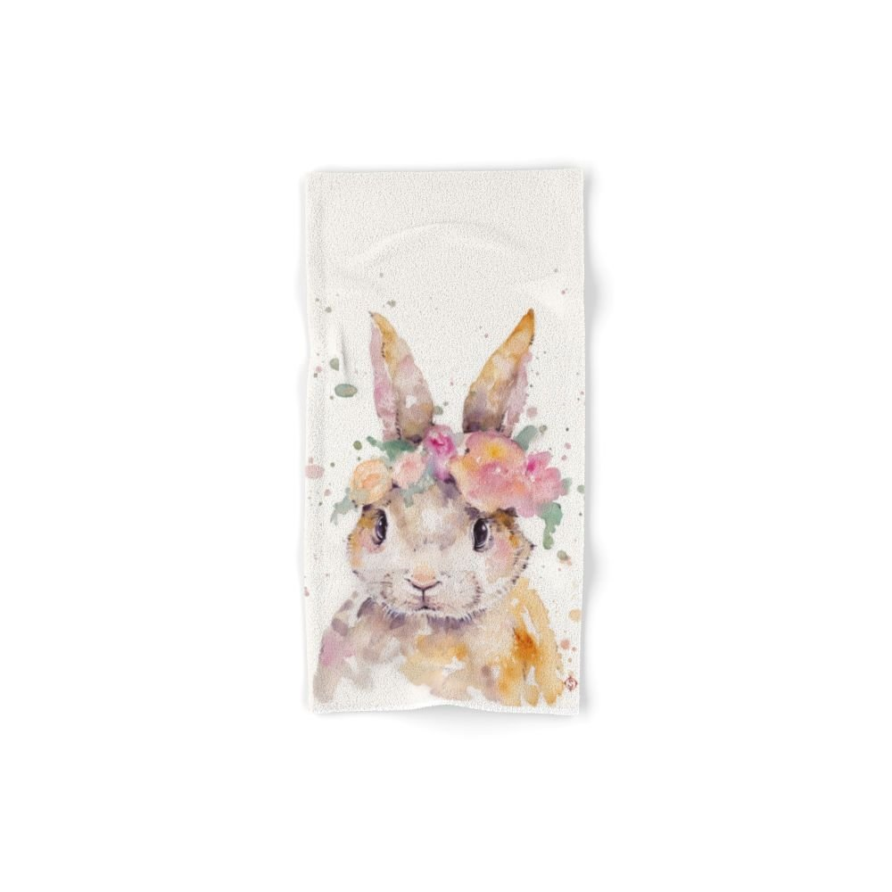"Society6 Little Bunny Hand Towel 30""x15"""