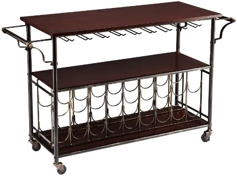 Southern Enterprises Rolden Wine Bar Cart, Espresso