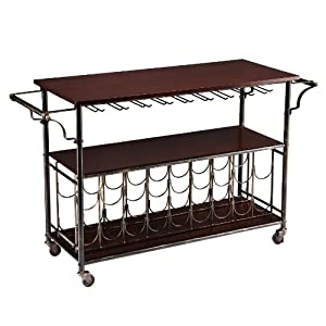 Southern Enterprises Rolden Wine/Bar Cart, Espresso