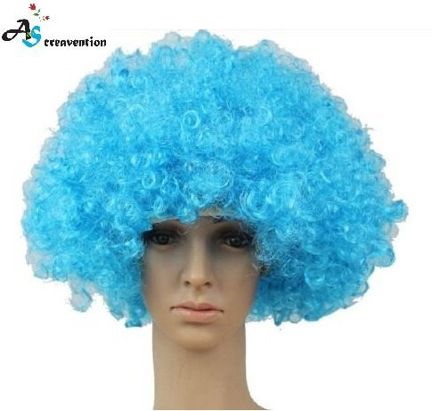 S.P.S Party Clown Disco Wig Make up Accessorie Fake Hair Wear (P Party Ideas)