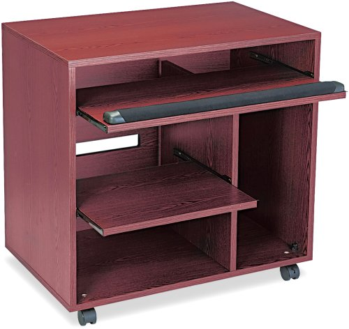 Safco Products 1901MH Ready-to-Use Computer Workstation with 2 Pullout Shelves, Mahogany