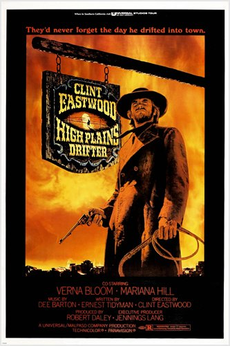 High Plains Drifter Movie Poster Clint Eastwood Western Rugged Prized reproduction, not an original