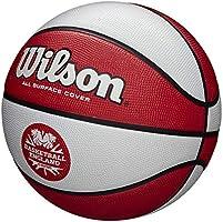 Wilson Clutch - Balón de baloncesto (talla 5), color blanco y rojo ...