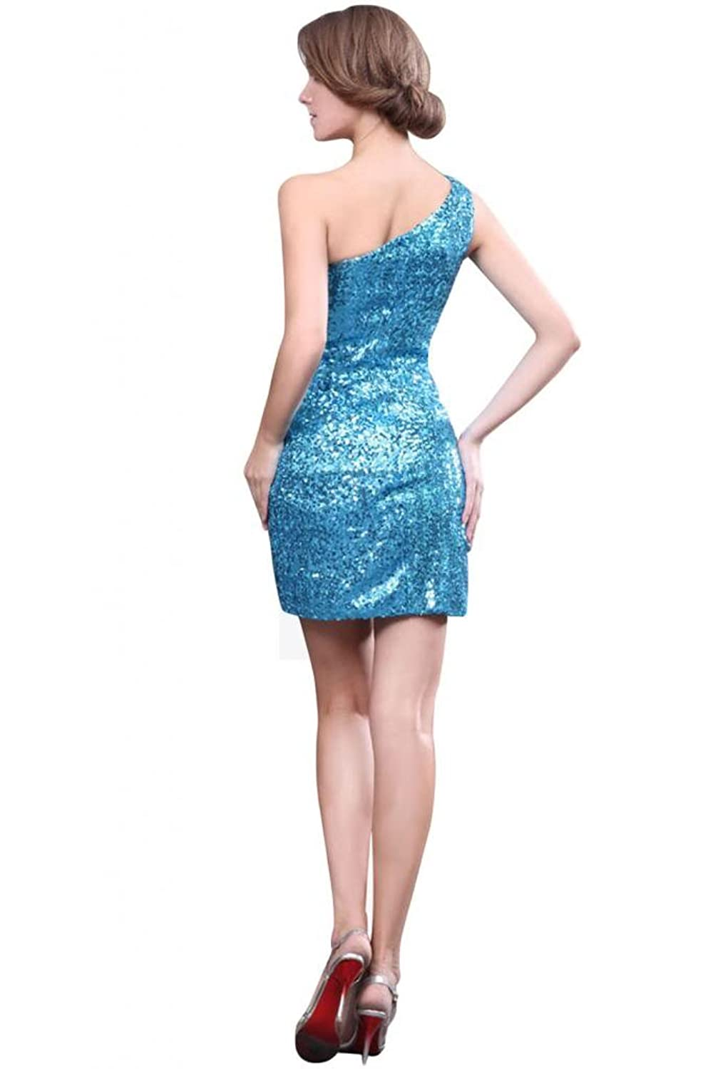 Sunvary 2014 New One Shoulder Mini Cocktail Party Dresses