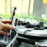 IKOPO Universal Magnetic Phone Holder for Car, Car Phone Mount Suitable for iPhone X 8/7/7Plus/6s/6Plus/5S, Galaxy S5/S6/S7/S8, Google Nexus, LG, Huawei and More Smartphone(Black)