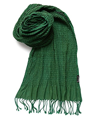 Freeset Handloomed Fair Trade Weekender 95% Cotton and 5 % Lycra Scarf (Leaf (Leaf Green Cotton Spandex)