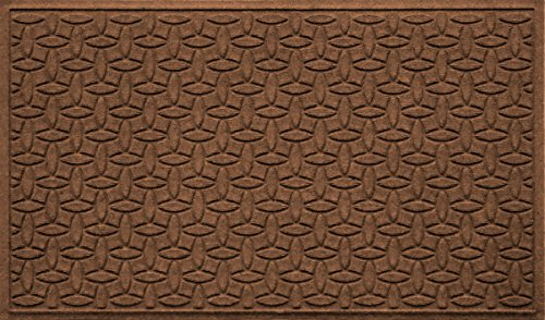 Collection Outdoor Floor (Bungalow Flooring Waterhog Oversized Doormat, Ellipse Collection, Skid Resistant, Catches Water and Debris, Easy to Clean, 3-Feet by 5-Feet, Ridged Abstract Design, Dark Brown)