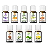 SUNIRA Essential Oil Gift Set of 09, Therapeutic Grade, 100% Pure Essential Oils (Lavender, Rosemary, Basil, Lemon, Eucalyptus, Frankincense, Lemongrass, Cedar wood & Orange)