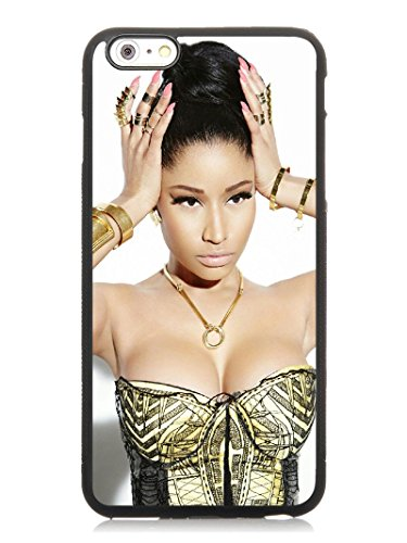 6S Plus 5.5 Phone Case,Nicki Minaj 2 Popular Gifts TPU Case Cover for iPhone 6 & 6S Plus (Black)
