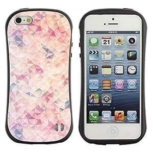 "Pulsar iFace Series Tpu silicona Carcasa Funda Case para Apple iPhone 5 / iPhone 5S , Wallpaper Arte Moderno rosa claro"""