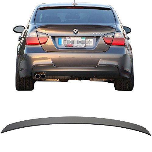 Roof Spoiler Fits 2006-2011 BMW 3 Series E90 Sedan 4Door | AC Style ABS Rear Deck Lip Wing Bodykits by IKON - Series 7 Roof Spoiler