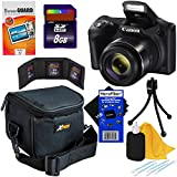 Canon Powershot SX420 IS 20 MP Digital Camera with 42x Optical Zoom and Built-In Wi-Fi (Black) + 7pc 8GB Accessory Kit w/ HeroFiber Ultra Gentle Cleaning Cloth