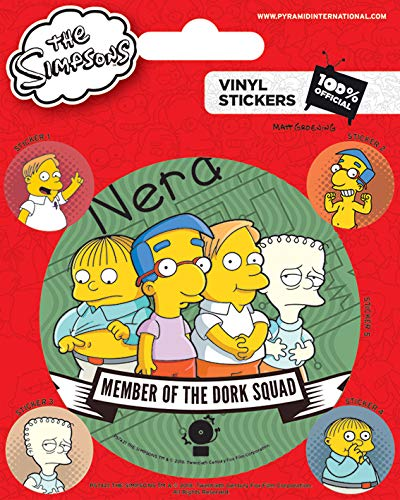 Pegatina de vinilo cuadrada de The Simpsons https://amzn.to/2HWdI4B