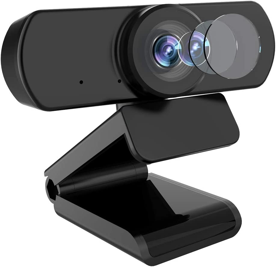 Webcam with Microphone, AIIYME 1080P Webcams Fixed Focus Live Streaming Computer Web Camera, Plug and Play USB Computer Camera for PC Laptop Desktop Video Calling,Conferencing