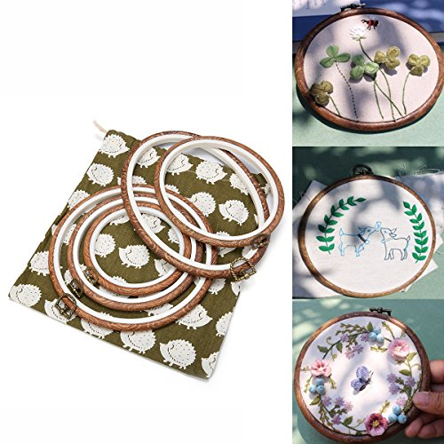 ARTISTORE 5 Pieces Embroidery Hoops Cross Stitch Hoop Embroi