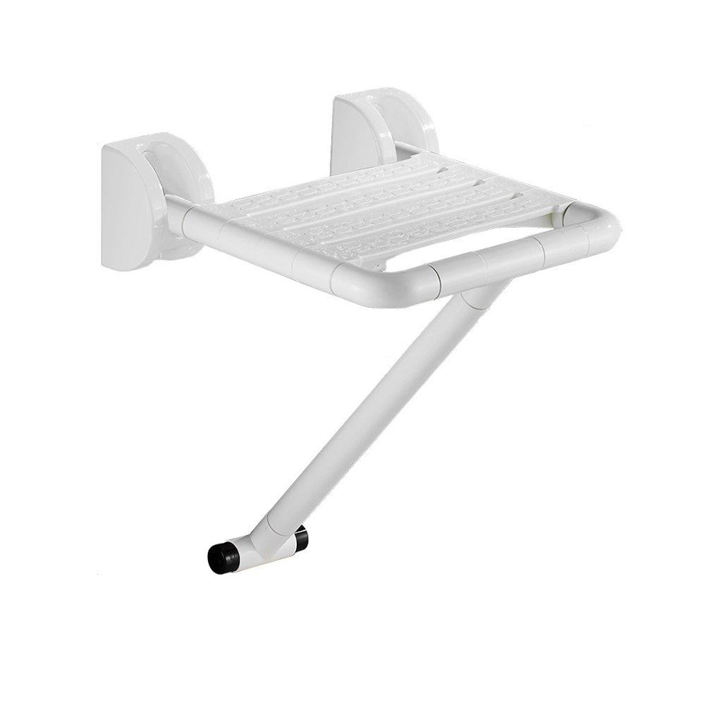 バスルーム折り畳みスツールウォールシャワーシートトイレ高齢シャワーウォールチェアバススツール (色 : 白, サイズ さいず : A) B07DFDLF9M A|白 白 A