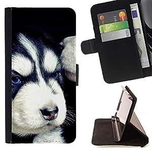 Momo Phone Case / Flip Funda de Cuero Case Cover - Mal husky siberiano enojado Cachorro; - Samsung Galaxy S3 III I9300