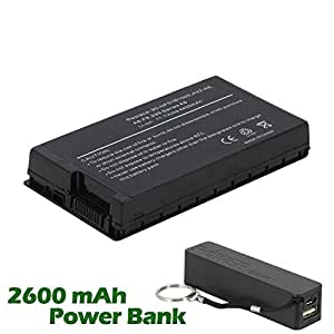 Battpit™ Laptop / Notebook Battery Replacement for Asus A8F (4400mAh / 49Wh) with 2600mAh Power Bank / External Battery (Black) for Smartphone.