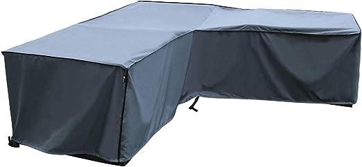 SORARA 210 x 270 x 85 x 65//90 cm Copertura Protettiva Forte e Durevole | Resistente allAcqua Mobilia da Giardino e Patio per Divano angolare Grigio L x L x A Premium