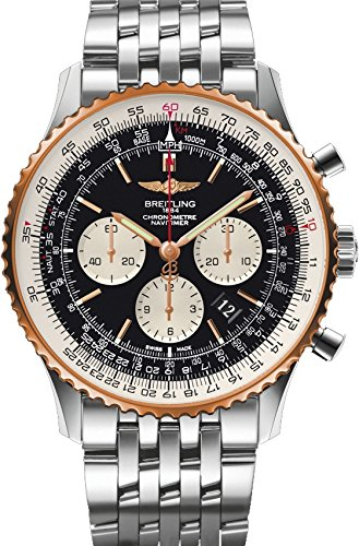 Mens Two Tone Breitling Navitimer Watch 01 46mm UB012721/BE18/443A