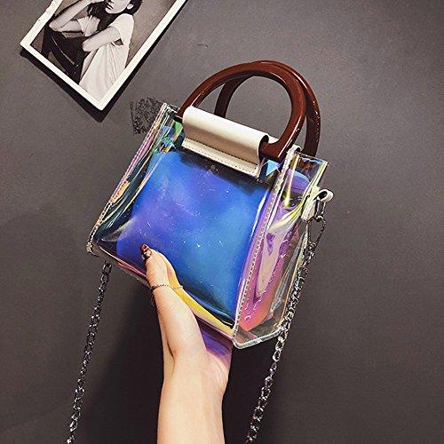 Bag Jelly Colorful Bag Best Transparent For Shoulder Laser Ladies Messenger Girls Gift Bag Tote White UXFx1qcwz