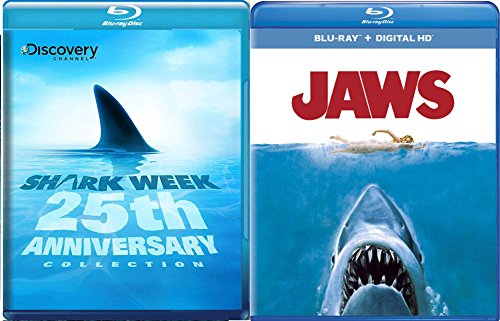 Jaws Blu Ray + Shark Week: 25th Anniversary TV Series Blu Ray Bundle set Movie (Dinosaurs Perfect Predators)