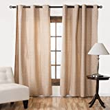Cheap LinenTablecloth 56 X 98 in. Ivory and Burgundy Filigree Blackout Curtain