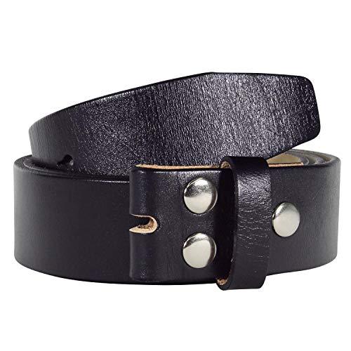 ull-Grain Belt Genuine Leather Belt without Belt Buckle 1.5