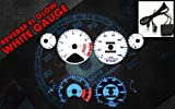 Brand New White Face Blue Indigo Reverse Glow Gauges For 94-95 Honda Accord l4 MT/AT -C119
