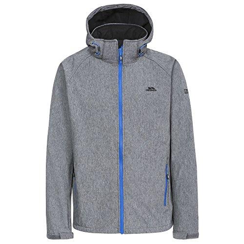 Trespass Mens Rafi Waterproof Softshell Jacket (M) (Dark Gray Marl/Blue Zip)