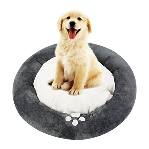 51vyUY%2BqLfL - Cat & Dog Bed, isYoung Cozy Bed Warm Bed for Cats and Small Dogs with Anti-Slip Bottom and Separate Plush Cushion
