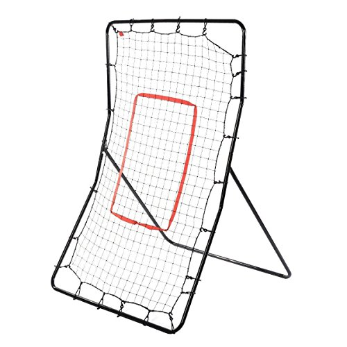 Edxtech Youth Pitch Back Rebound Net Baseball Throwing Pitching Return Bounce Training