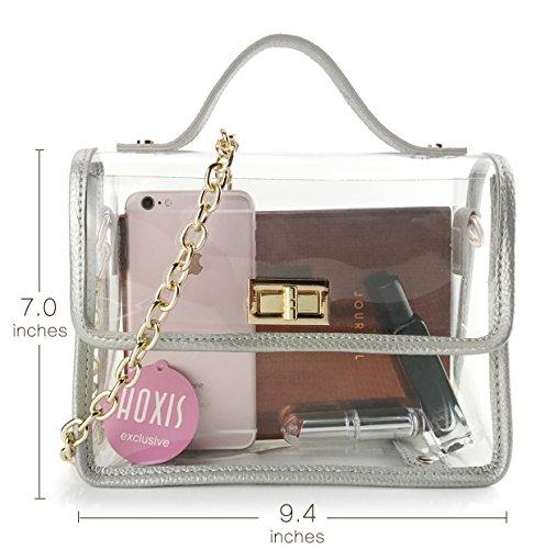 8ca97e4407f0 Jual Clear Womens Shoulder Handbag Chain Cross Body Bag Purse for ...