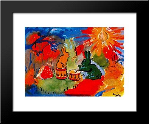 Pom'po pom'po pon po pon pon 20x24 Framed Art Print by Magritte, Rene