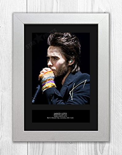 Engravia Jared Leto 1 MT - Signed Autograph Reproduction Photo A4 Print (White (Best Leto Digital Photo Frames)